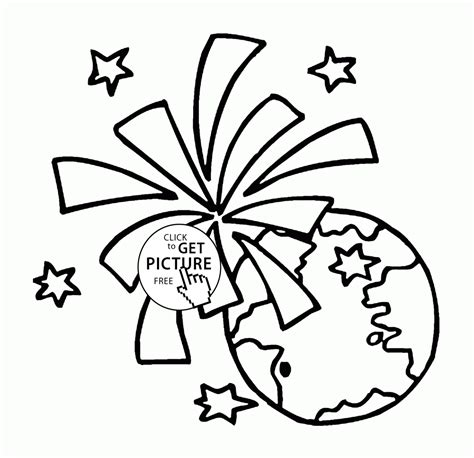 Happy Earth Day Celebration Coloring Page For Kids Celebration Coloring Pages