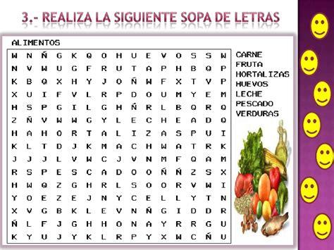 cadena alimenticia en ingles para niños actividades ppa los alimentos 1