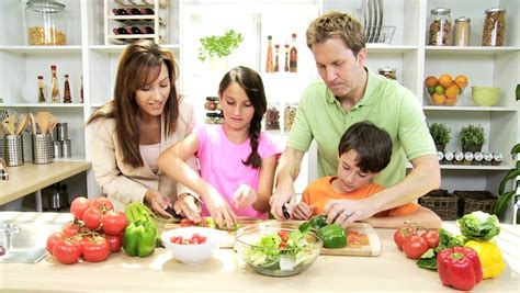 caucasian family healthy lifestyle healthy