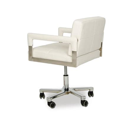White Modern Desk Chair Dreamfurniture Alaska Modern White Leather Office Chair