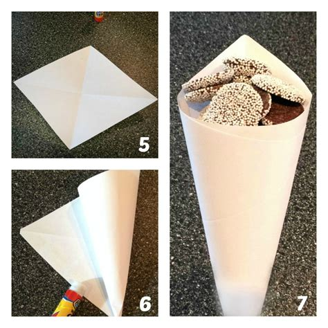 How To Fold Paper Into A Cone Shape - how to make a paper treat cone frugal upstate