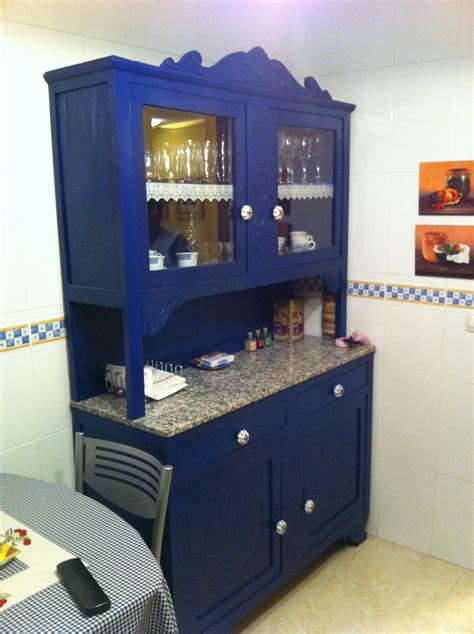 alacena vintage restaurada alacena azul para cocina vendida epoquevintage
