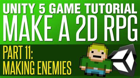 unity tutorial make a game unity rpg tutorial 11 making enemies youtube
