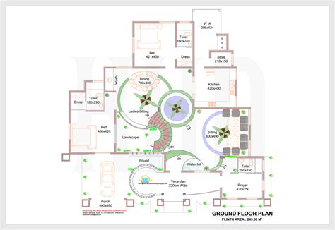 2d home design pic 2d elevation and plan of 4bhk luxury house 4198 sq ft
