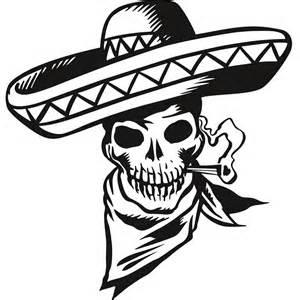 cartoon mexican skull wall sticker world stickers art deco wallart studios