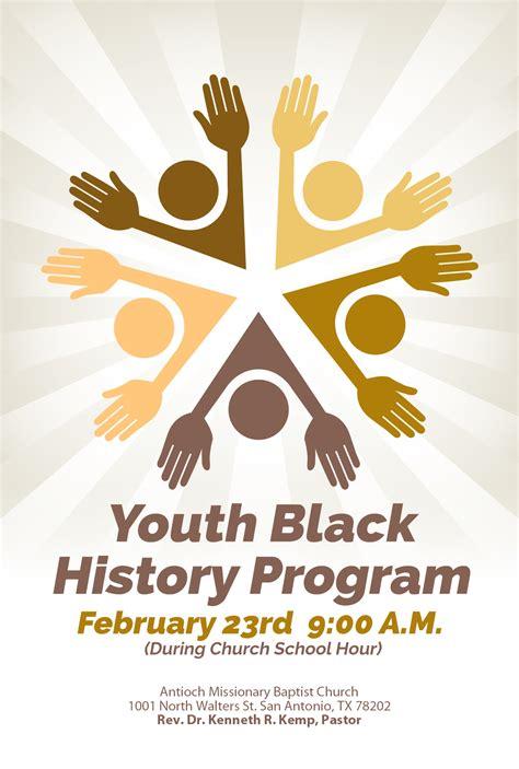 Church Program Ideas For Youth - antioch baptist church youth black history