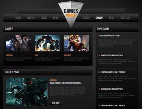 game website layout gaming website templates pro tips for building a gaming