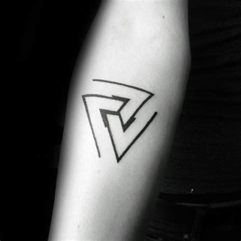 minimal triangles mens forearm tattoos tattoo ideas