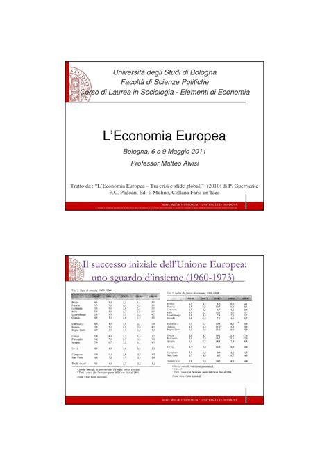 dispense economia economia europea dispense