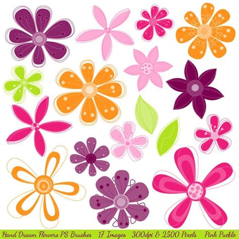 doodle flower photoshop brushes 75 best flower doodles images on drawings