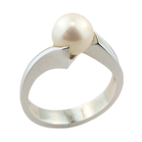 sterling silver akoya pearl ring cameron jewellery