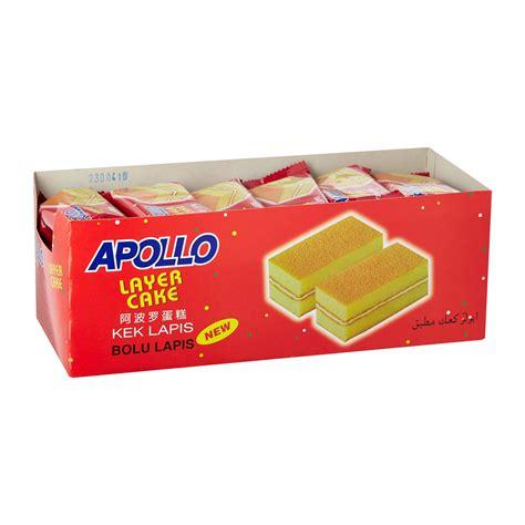 apollo layer cake isi 24 pcs apollo layer cake original 18g from redmart