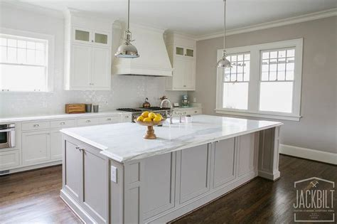 White Kitchen Gray Island by White Kitchen With Grey Island Transitional Kitchen