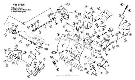 ariens snowblower parts diagram ariens 910014 000101 st724 7hp tec 24 quot blower