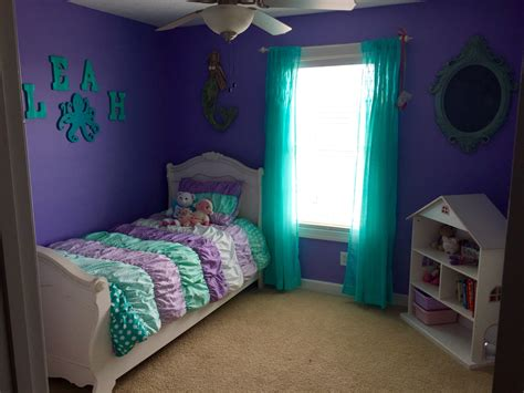 purple and teal mermaid room mermaid