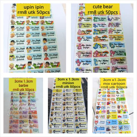 Printer Sticker Murah fiszah pjo promosi sticker label yang murah