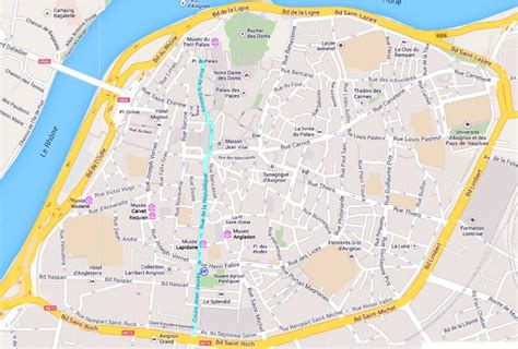 map of avignon avignon museums map by provence beyond