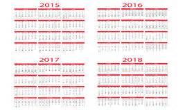 Kalender Tot 2018 Kalender 2018 Vector Illustratie Afbeelding Bestaande Uit