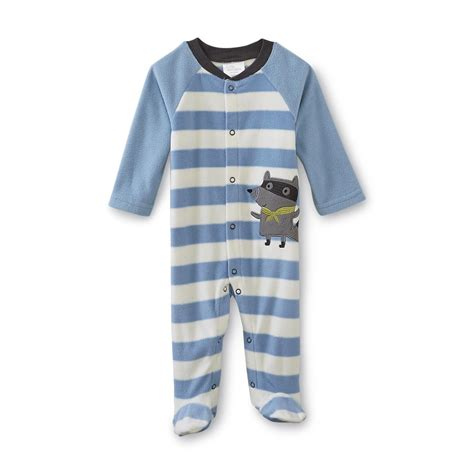 wonders newborn boy s fleece sleeper pajamas raccoon