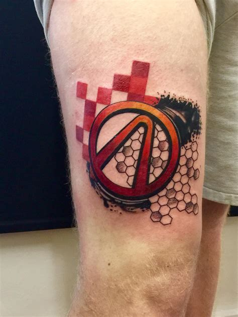 Inkspiration Tattoo Inverurie | thigh trash polka piece including vault symbol done by