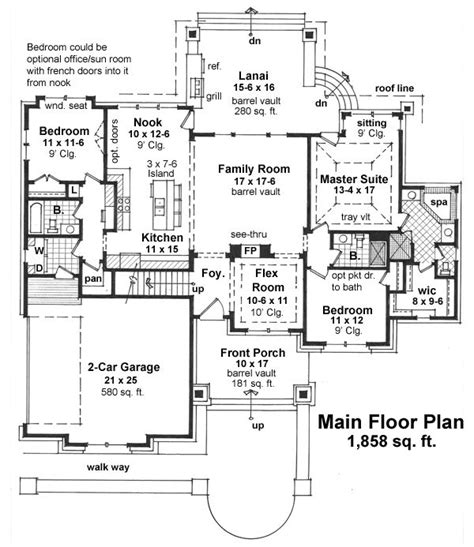 formal plan with angled garage 69353am architectural first floor plan of craftsman house plan 42625 laundry