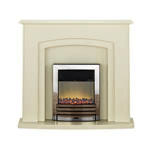 adam falmouth electric fireplace suite with chrome