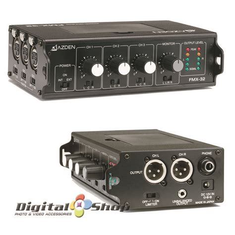 Mixer 6 Channel Paling Murah jual azden fmx 32 3 channel portable field mixer murah di
