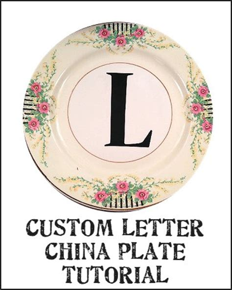 4 Letter Words Number Plates dishfunctional designs custom letter or word china