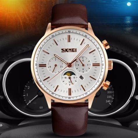 Jam Tangan Jam Tangan Pria Casual Skmei 2208 Original Leather skmei jam tangan kasual pria 9117cl black gold
