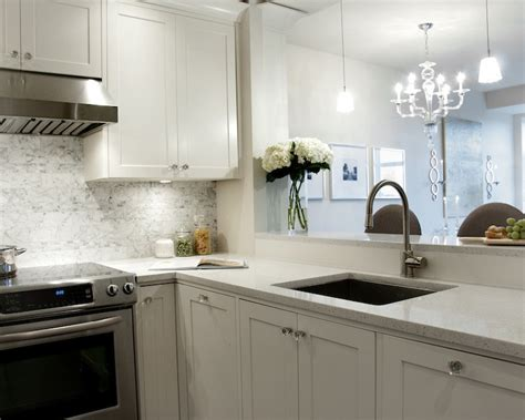 Countertops For White Kitchen Cabinets White Shaker Cabinets Transitional Kitchen Deslaurier Custom Cabinets