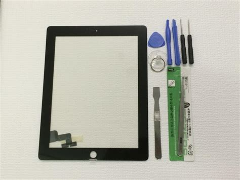 2 Model A1396 black screen glass digitizer replacement for 2 a1395