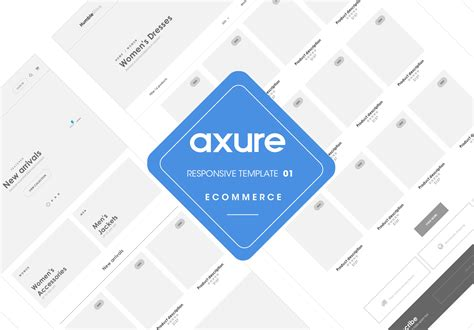 axure tablet template axure responsive template ecommerce website