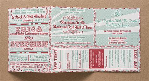 rock wedding invitations erica stephen s rock roll wedding invitations