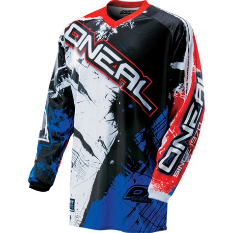 o neal motocross gear o neal element shocker white blue motocross dirt bike
