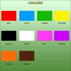 when do children learn colors learning center colors