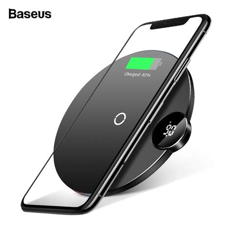 baseus led display qi fast wireless charger iphone xs max 8 samsung s9 10w shopee malaysia