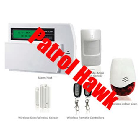 patrol hawk wireless burglar alarm home shop warehouse