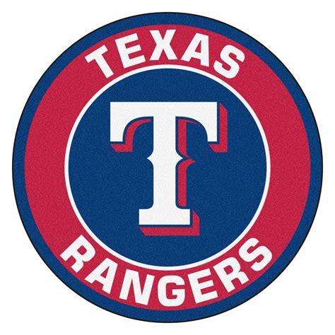 rangers rug rangers logo roundel mat 27 quot area rug