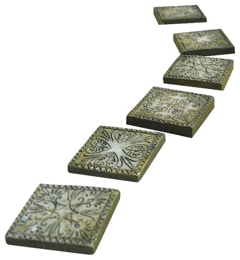 White Square Vase Stepping Stones Ancient Square Set Of 6 For Miniature