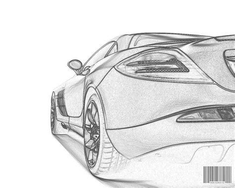 coloring book zip drive mercedes slr pencil drawing desktop wallpaper pictures