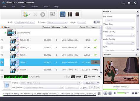converter dvd to mp4 xilisoft dvd to mp4 converter screenshot