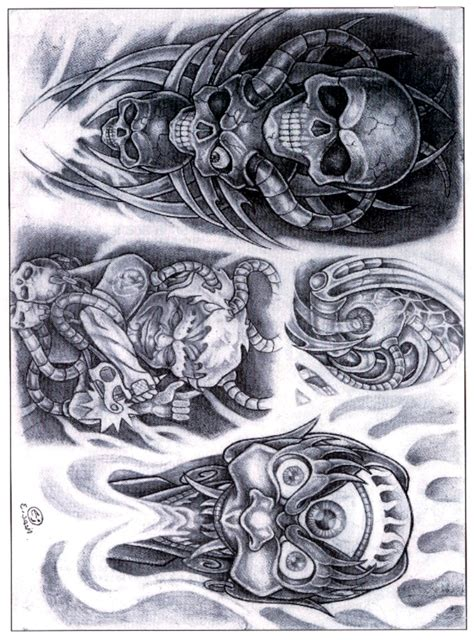 classic skull tattoo designs biomechanical img208 unsorted classic design