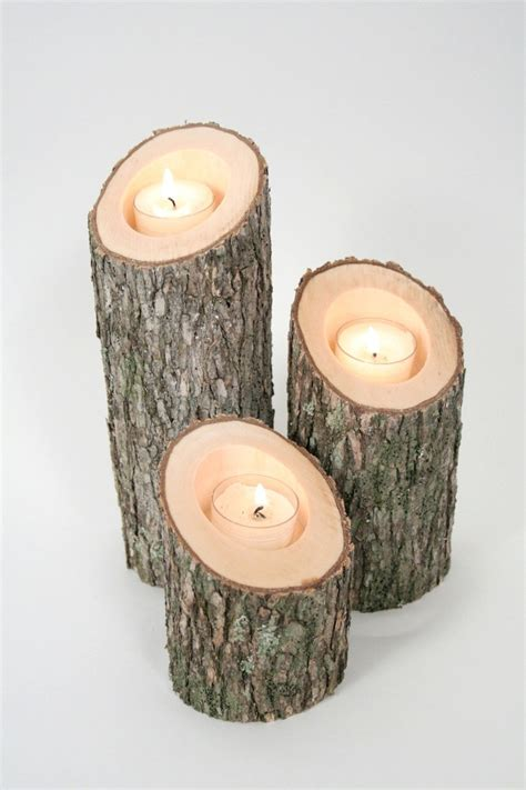 tree branch candle holders iv rustic wood candle holders
