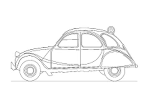 Ausmalbild Ente Auto by Ausmalbilder Autos 2cv Coloring 3 Pinterest