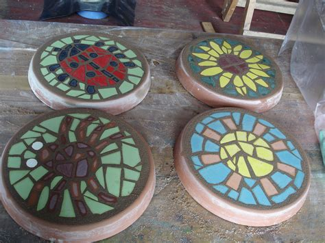 pattern for mosaic stepping stones party ideas tracey cartledge artist