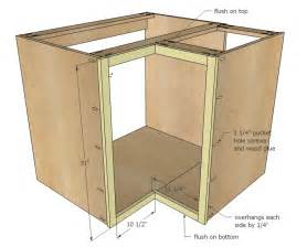 Plans For Building Kitchen Cabinets Ana White 36 Quot Corner Base Easy Reach Kitchen Cabinet