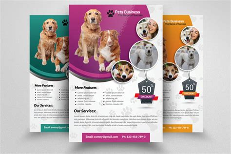 pet shop business flyer template flyer templates on