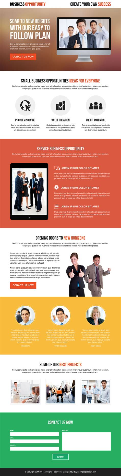 business page design templates best responsive landing page designs 2014 to capture leads