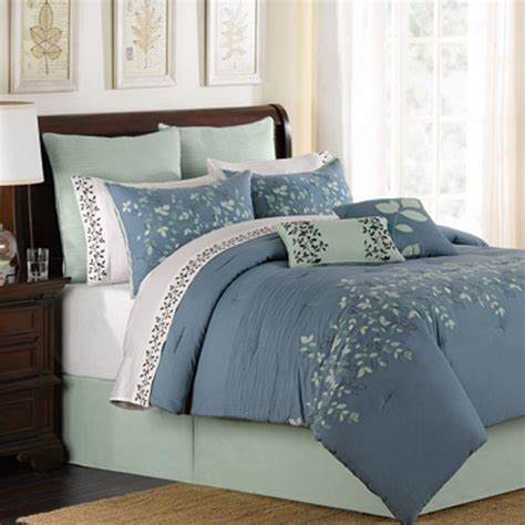 spring lake blue oversize king 8 piece comforter bed in a