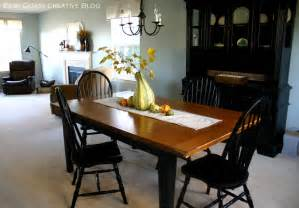 refinishing dining room table refinished dining room table furniture makeover east coast creative blog